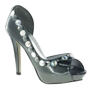 Johnathan Kayne in PEWTER Bridal Bridesmaid Prom Pageant Shoes