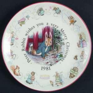 Wedgwood Peter Rabbit Christmas Plate 1981