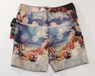 Neill Deserted Beach Graphics Board Shorts Swim Trunks Mens NWT