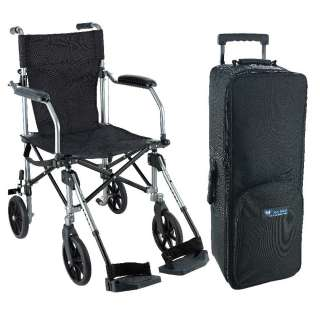 Easy Go Chair with Luggage Transport Chair Folding Carry Bag Wheels
