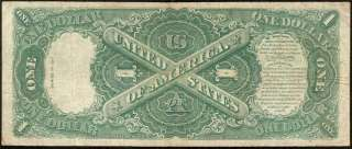 LARGE 1917 $1 DOLLAR BILL UNITED STATES LEGAL TENDER RED SEAL NOTE Fr