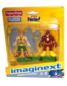 DC SUPER FRIENDS FISHER PRICE IMAGINEXT HAWKMAN & FLASH