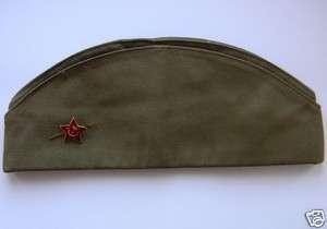 Genuine Soviet Army Soldier Uniform Hat PILOTKA + BADGE
