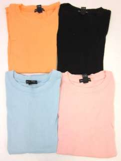 LOT 4 CLUB MONACO Blue Orange Pink Black T Shirts Sz S