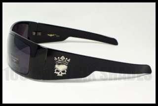 SKULL Biker Sunglasses Mens Crown Skull Dark BLACK New