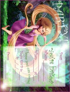 Disney Tangled Party Invitations 30 Pack