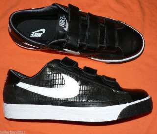Nike Blazer AC velcro shoes mens sneakers black new