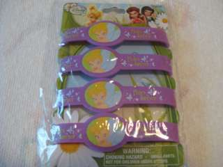 Disney Fairies Tinkerbell Bracelets   4ct   NEW ITEM 807716677447