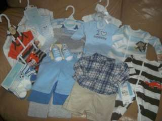 NWT CARTERS& FIRST MOMENTS SPRING 2012 LINE NEWBORN BABY BOY CLOTHES