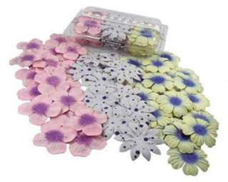Mulberry paper FLOWERS   50   Cream Blue Pink Polka Dot
