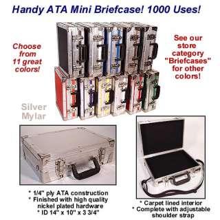 New ATA MINI BRIEFCASE   Multi Purpose Case   Silver