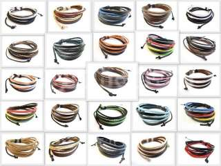 Hot Cool Hemp Black Brown Multi Color Leather Bracelet Select Style