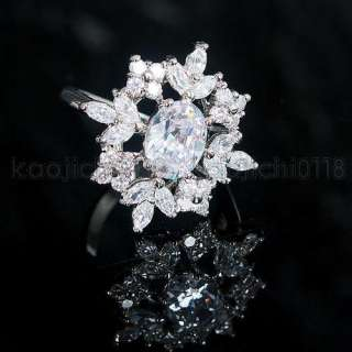 5CT 18K Gold Plated Clear CZ Ring ML0834