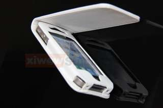 New White Leather Skin Case Pouch Cover For iPhone 4 4G 4GS