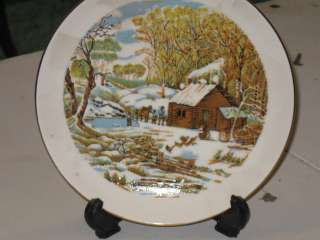 AMERICAN PRIDE SCENE LOG CABIN CHRISTIAN DISH KITCHEN PRAYER