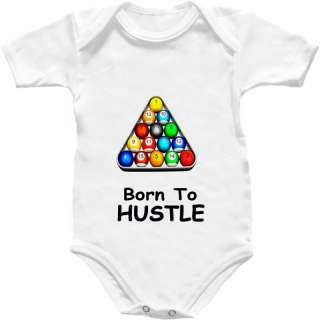 Pool Baby Grow Shirt Babygro Balls Cue Table Hustle