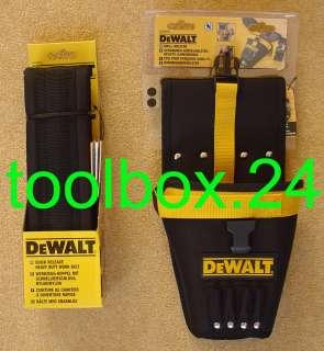 Genuine DeWalt Quick Release Heavy Duty Nylon Work Tool Belt & Drill