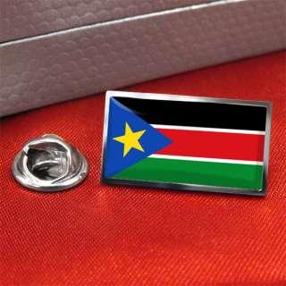 South Sudan Flag Lapel Pin Badge
