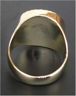 Gents Mens Gold Plated Queen Victoria Sovereign Ring