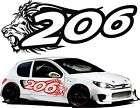 Adesivi peugeot 206 adesivi auto tuning 206 stickers