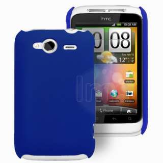Magic Store   Blue Hybrid Hard Case Cover For HTC Wildfire S + Film