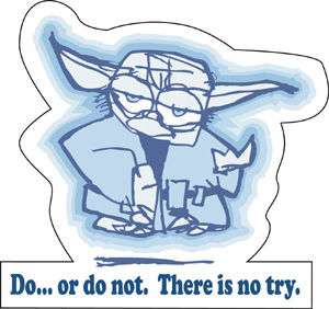 STAR WARS yoda do or do not STICKER window bumper