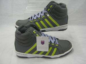 Ladies K Swiss grey leather boot trainer VETTER MID