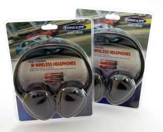 NEW ) 2 Concept CDC IR10 Dual Channel IR Wireless Headphones  PAIR