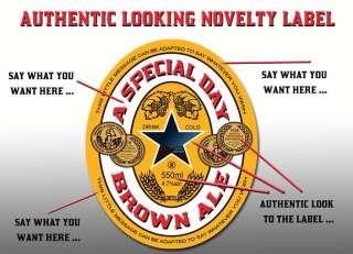 Personalised Newcastle Brown Ale Label x4 Buy1Get1FREE