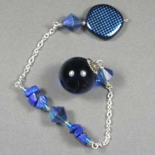 Premium Blue Obsidian Crystal Pendulum, Dowsing, OB65