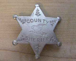 COUNTY SHERIFF BADGE BW   52 WESTERN POLICE MARSHALL