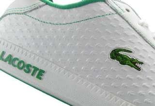 Lacoste Graduate ET Trainers White/Green Mens Size