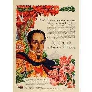 1949 Ad Alcoa Venezuela Simon Bolivar B. Artzybasheff