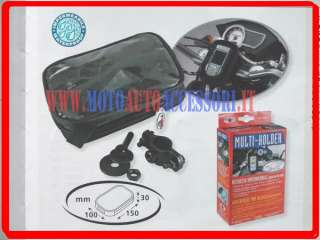 PORTA NAVIGATORE GPS MOTO + presa accendisigari + USB