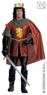 Royal Knight Mens Medieval King Fancy Dress Costume