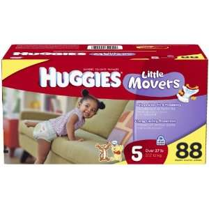 Huggies Little Movers Diapers Junior Pack   Size 5 88ct