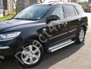 Beautifully styled aluminium running boards for the Hyundai Santa Fe