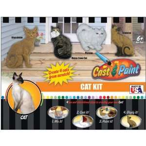 com New   Cast & Paint Kit Cat by Skullduggery Patio, Lawn & Garden
