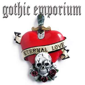 ETERNAL LOVE TATTOO FRIDGE MAGNET   Skull heart etc.