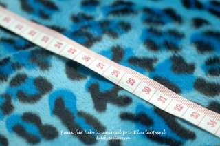 Faux Fur Fabric Animal Print Large Leopard 1 yard