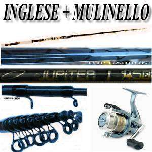 KP035 KIT CANNA X PESCA ALL INGLESE + MULINELLO SHIMANO