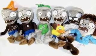 6Pcs Zombies Plants Vs Zombies PVZ Plush Soft Doll Toy
