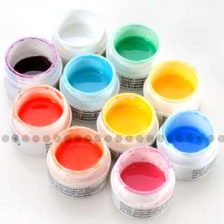 Juego de UV Gel de Manicura en 10 Colores 5ml para Decorar Uñas