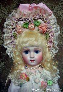 Antique reproduction doll by Emily Hart dress Mary Lambeth