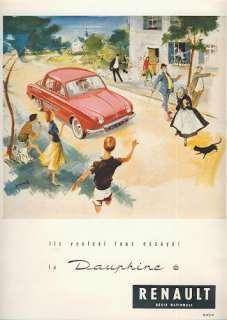 PUBLICITE 30,6 x 23,5 RENAULT LA DAUPHINE 1956