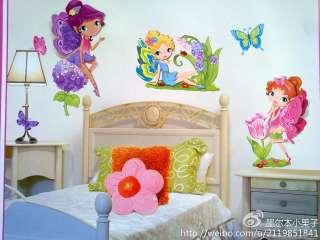 3D Wall Sticker Removable Fairy &Unicorn Art Decor Kids Room