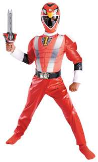 Power Rangers RPM Super Hero Muscle Child Costume Red