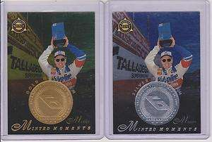 1998 PINNACLE MINT MARK MARTIN SILVER AND GOLD MINT TEAM CARDS #25