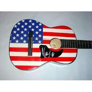 KEITH URBAN Autographed Signed USA FLAG Guitar PROOF