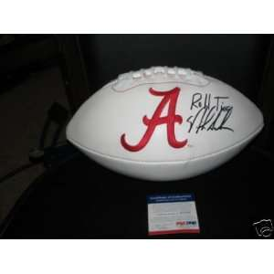 Nick Saban Alabama Rolltide Jsacoa Signed Football  Sports